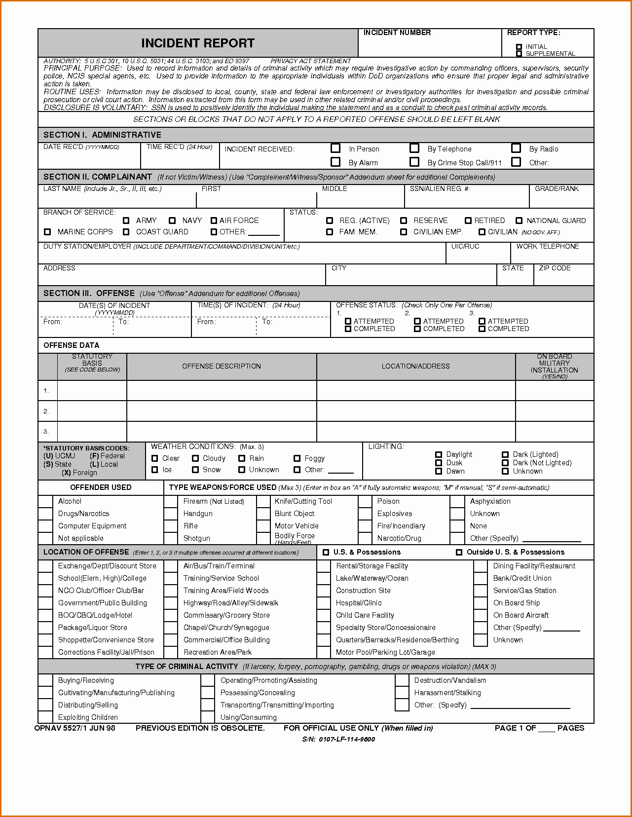Police Report Template Pdf Best Of 8 Blank Police Report