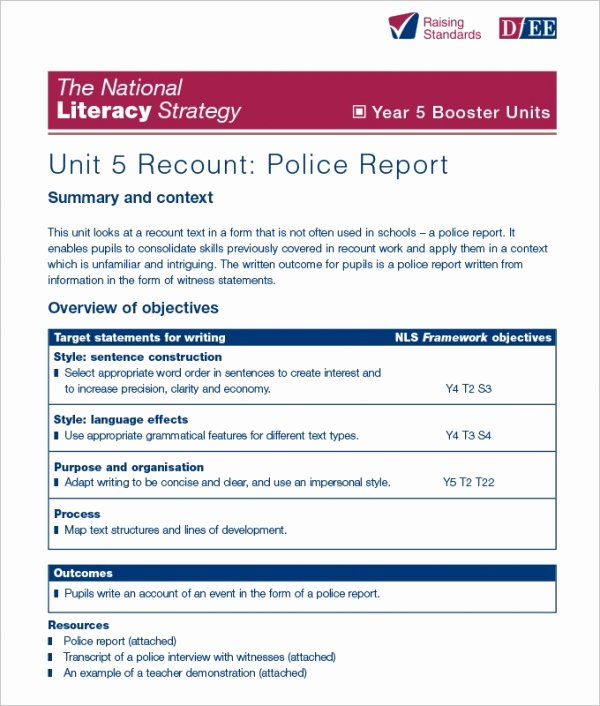 Police Report Template Pdf Elegant 17 Sample Police Report Templates Pdf Doc
