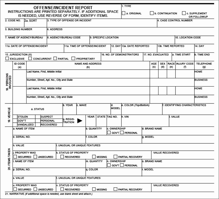 Police Report Template Pdf New Police Report Template