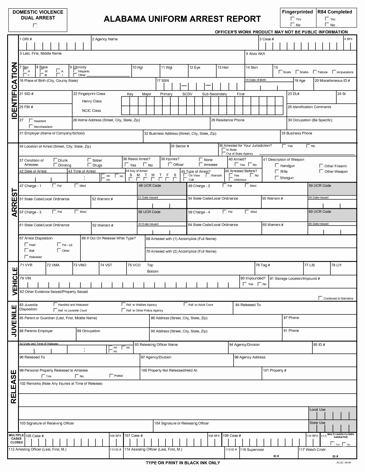 Police Report Template Pdf Unique 92 Police Arrest Report Template Free Police Report
