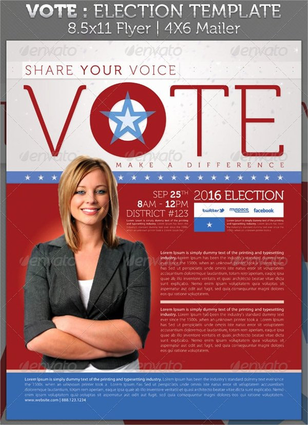 Political Palm Card Template Beautiful 10 Political Brochures