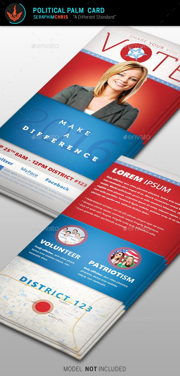 Political Palm Card Template Best Of Vote Political Palm Card Template by Seraphimchris