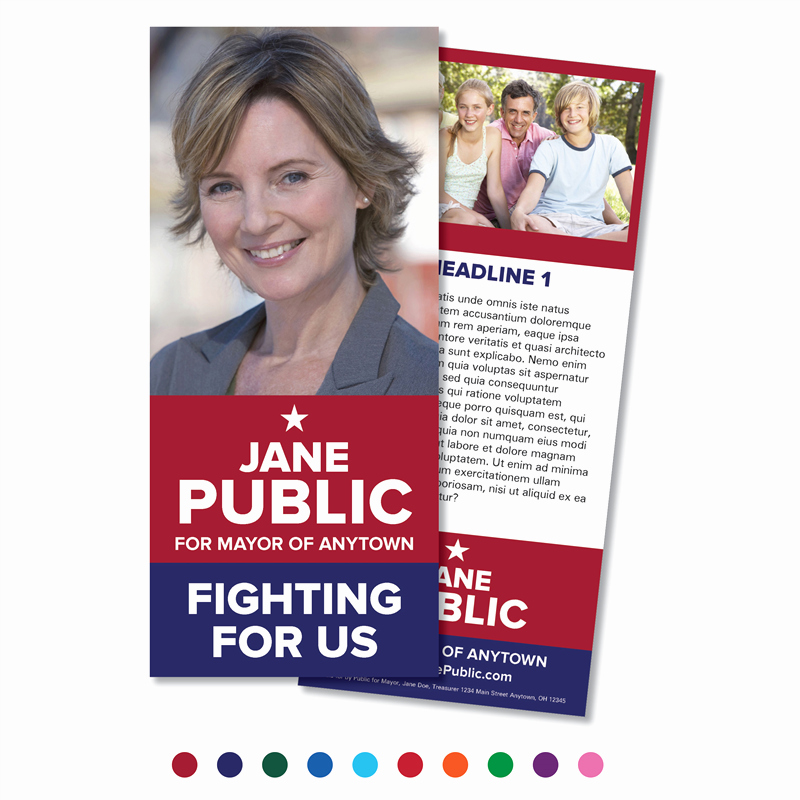 Political Palm Card Template Unique Customize This Design Candidate Palm Card Classic Suite