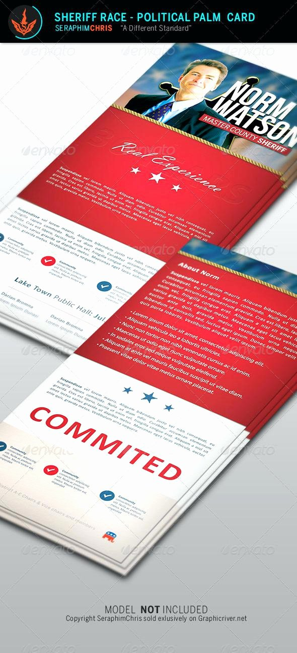 Political Palm Card Template Unique Palm Card Template Word Print Business Cards Hp Smart