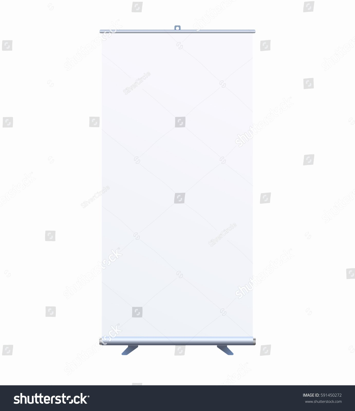 Pop Up Banner Template Beautiful Roll Banner Stand isolated Clean Stock Vector