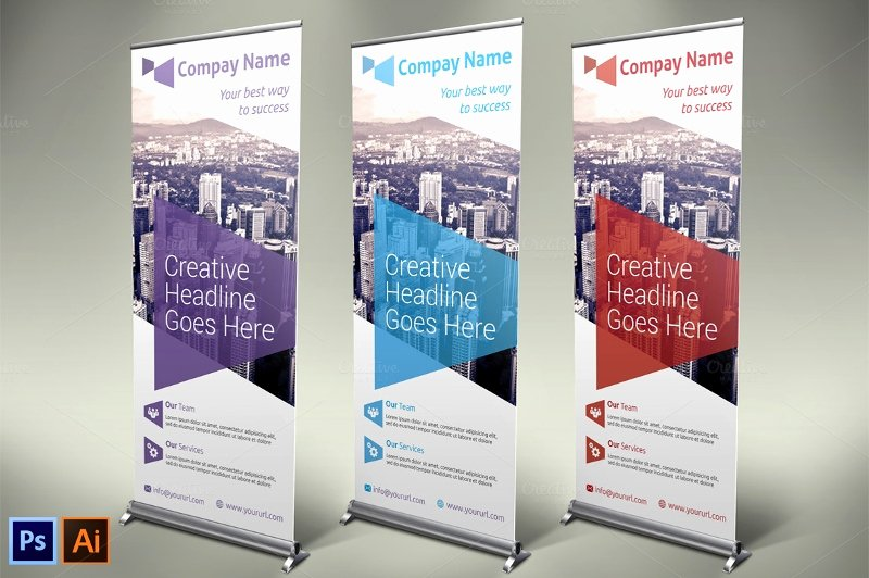 Pop Up Banner Template Lovely 37 Roll Up Banner Designs for Your Advertising Needs