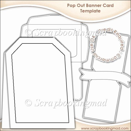 Pop Up Banner Template Luxury Pop Out Banner Card & Envelope Template Cu Ok £3 50