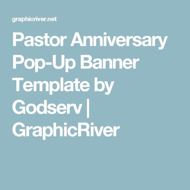Pop Up Banner Template New Best 25 Pastor Anniversary Ideas On Pinterest