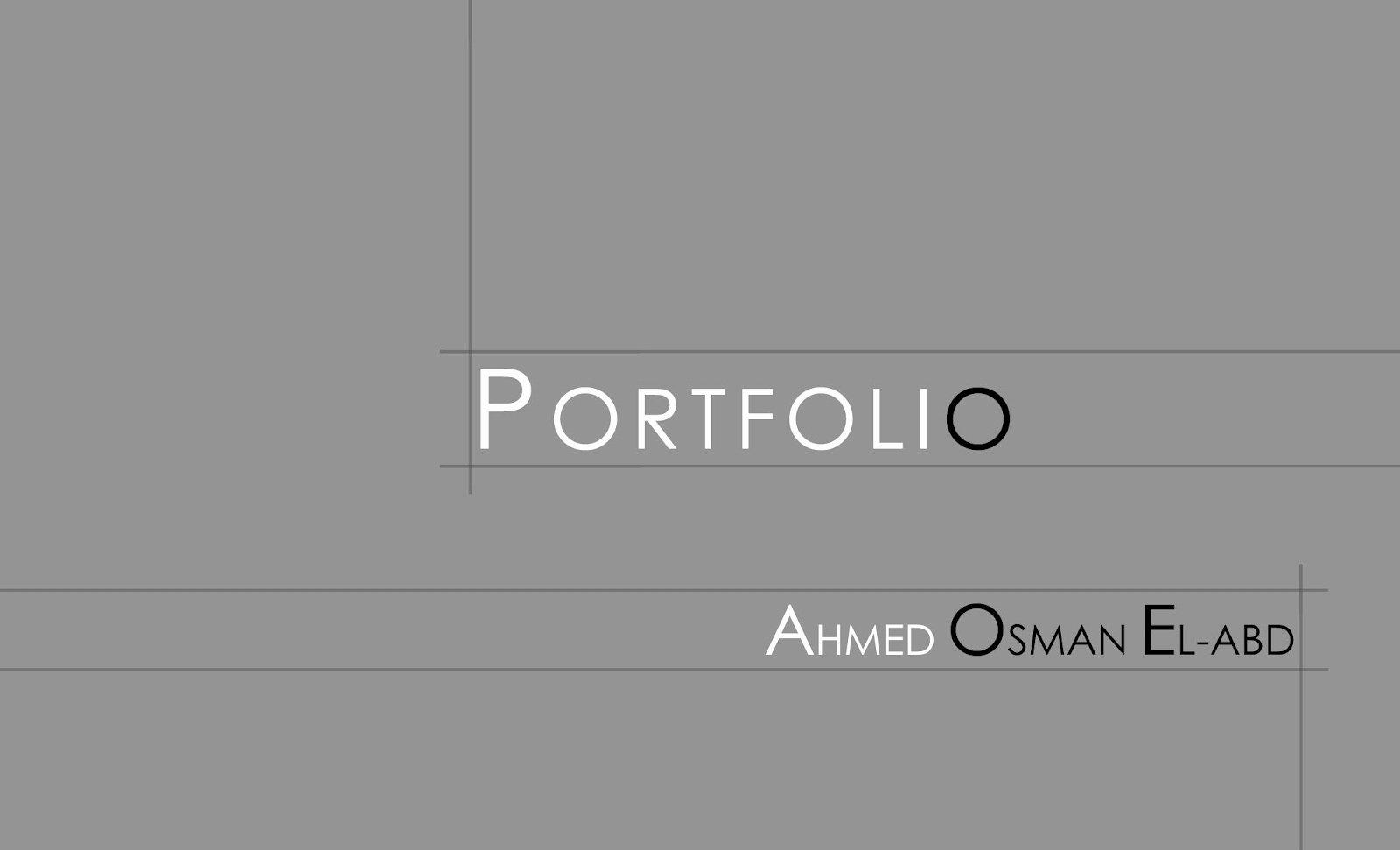 Portfolio Cover Page Template Awesome Ahmed Osman Portfolio