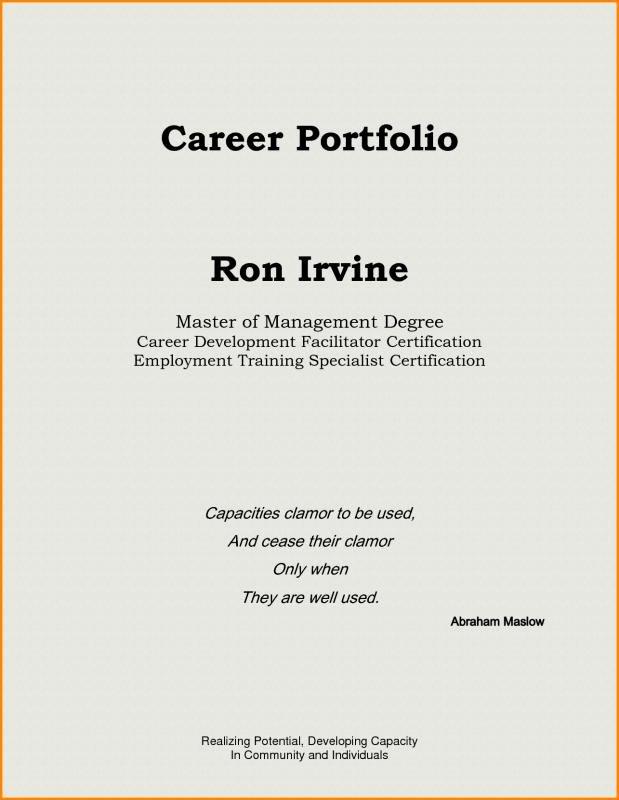 Portfolio Cover Page Template Awesome Teaching Portfolio Template