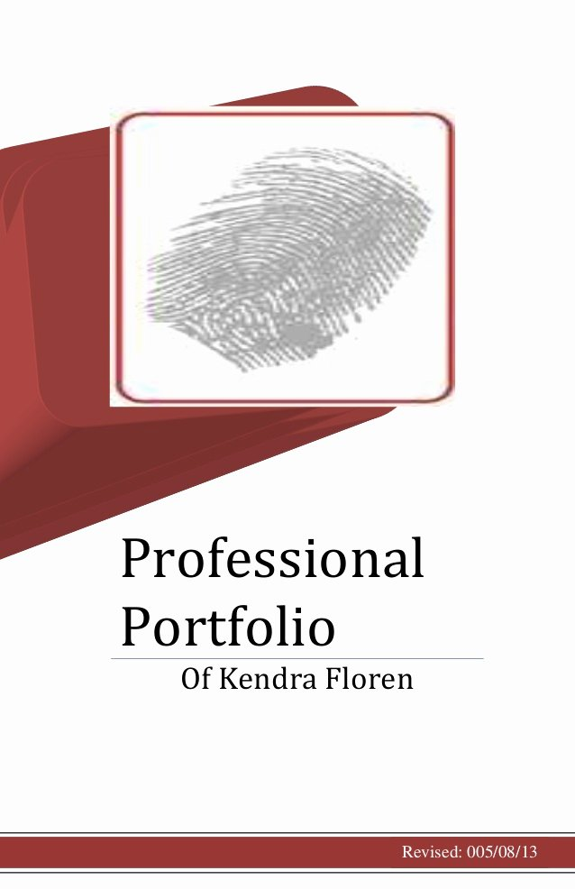 Portfolio Cover Page Template Beautiful Professional Portfolio Cover Page