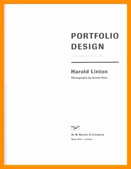 Portfolio Cover Page Template Beautiful Professional Portfolio Cover Page Template Front