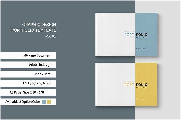 Portfolio Cover Page Template Elegant Graphic Design Portfolio Template Brochure Templates On