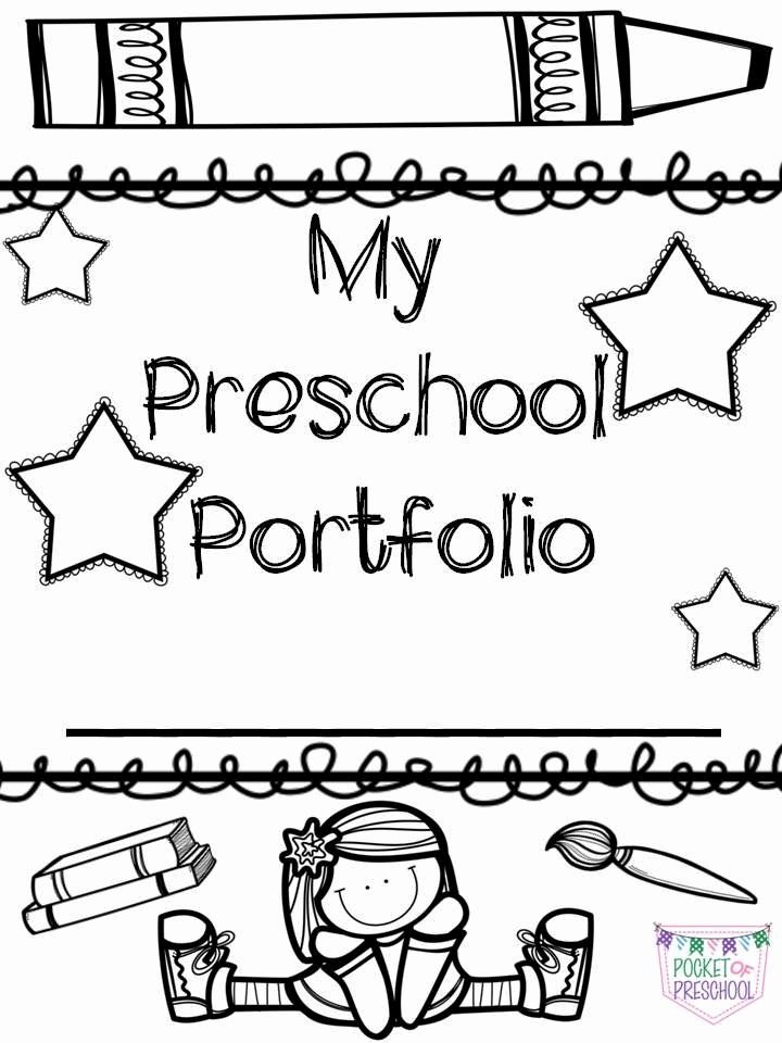 Portfolio Cover Page Template Elegant Portfolio Covers for Preschool Pre K or Kindergarten
