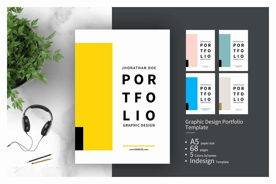 Portfolio Cover Page Template Fresh Graphic Design Portfolio Template Brochure Templates