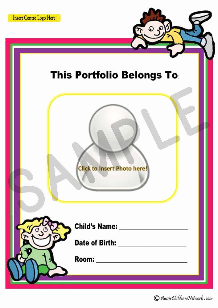 Portfolio Cover Page Template Luxury Portfolio Coverpage Aussie Childcare Network