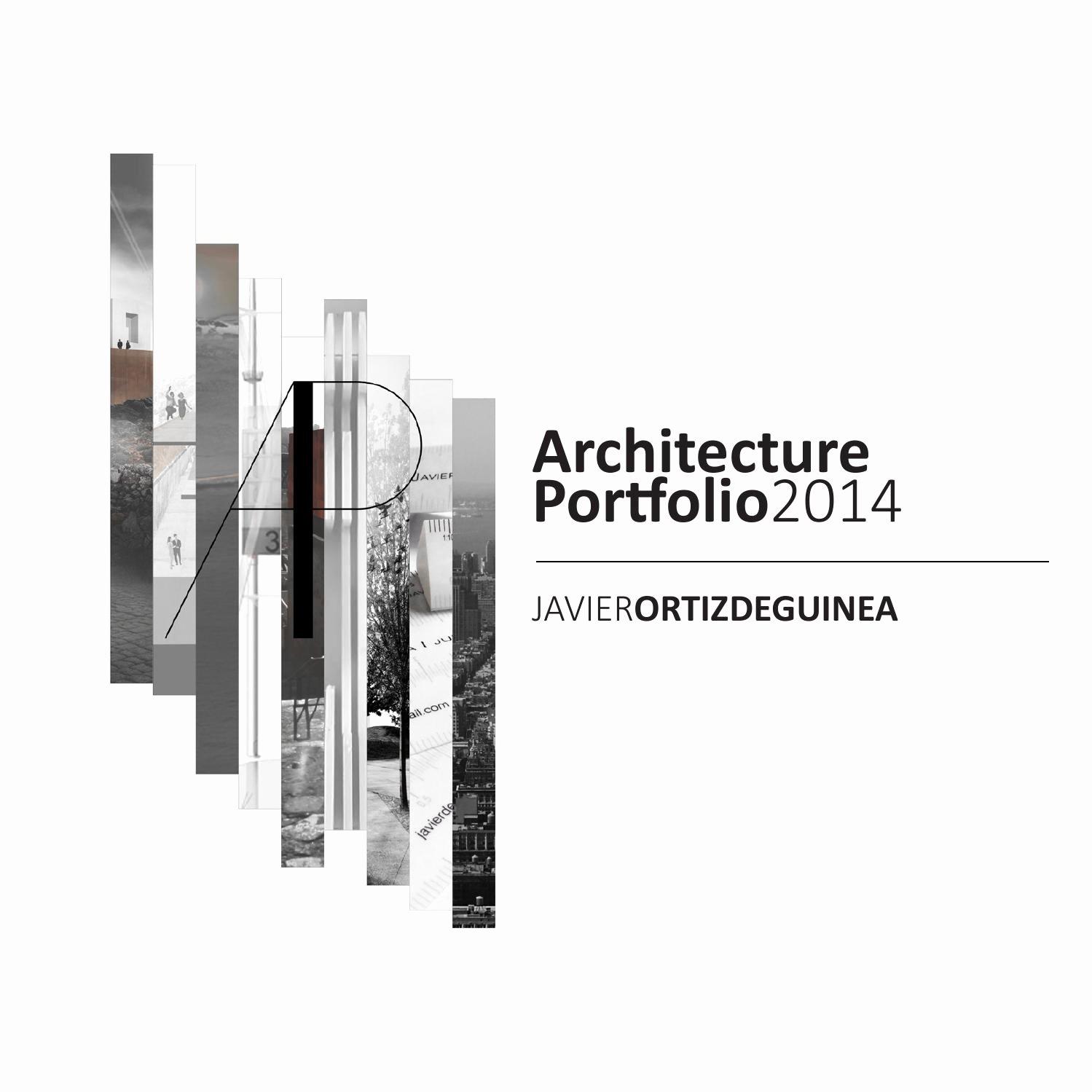 Portfolio Cover Page Template Unique Architecture Portfolio by Javier ortiz De Guinea issuu