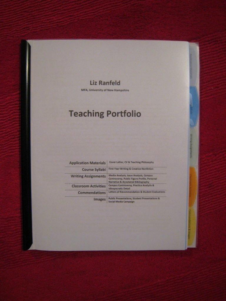Portfolio Cover Page Template Unique Elementary Teacher Portfolio Sample New Teaching Portfolio