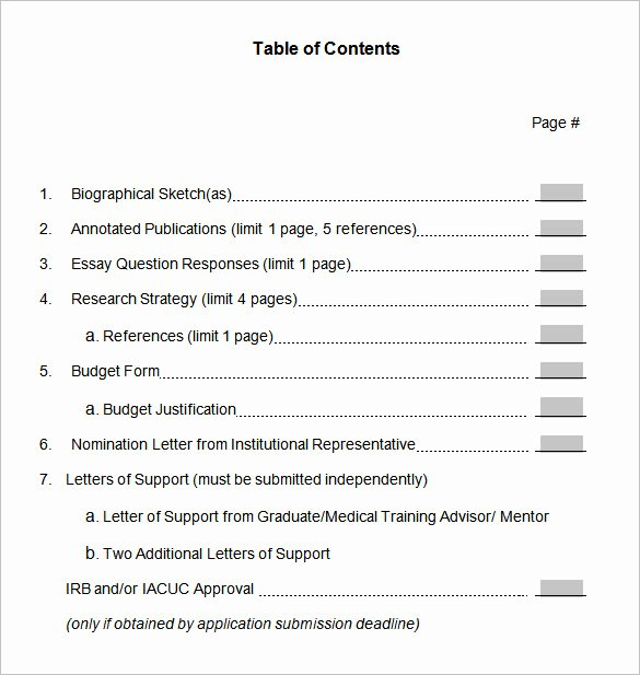 Portfolio Table Of Contents Template Awesome 22 Table Of Contents – Pdf Doc