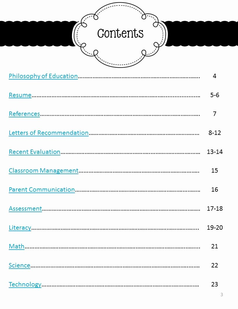 Portfolio Table Of Contents Template Beautiful My Job Hunt Journey Part Two the Mini Portfolio
