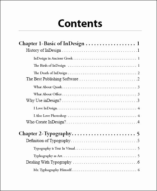 Portfolio Table Of Contents Template Best Of How to Design A Table Of Contents Google Search