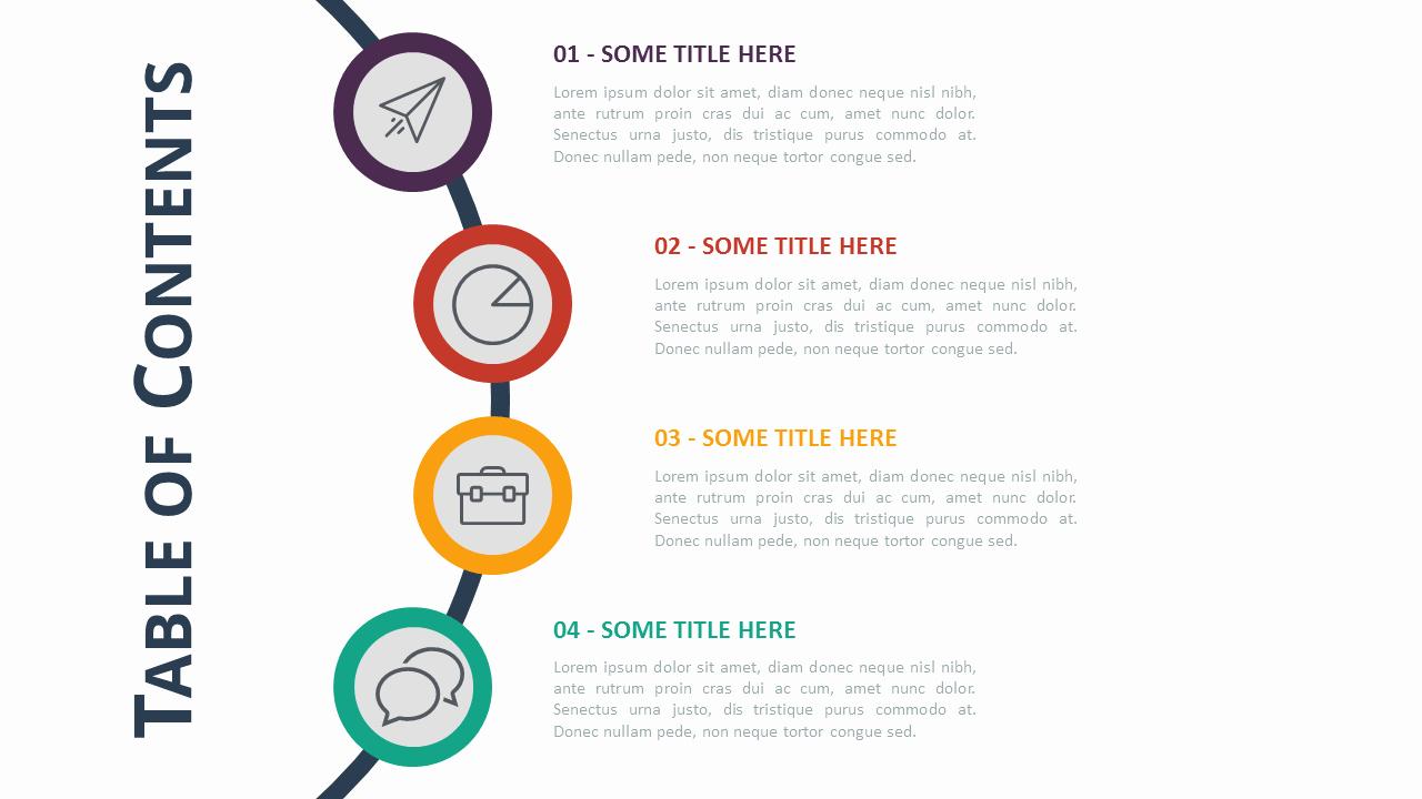 Portfolio Table Of Contents Template Elegant Table Of Content Templates for Powerpoint and Keynote