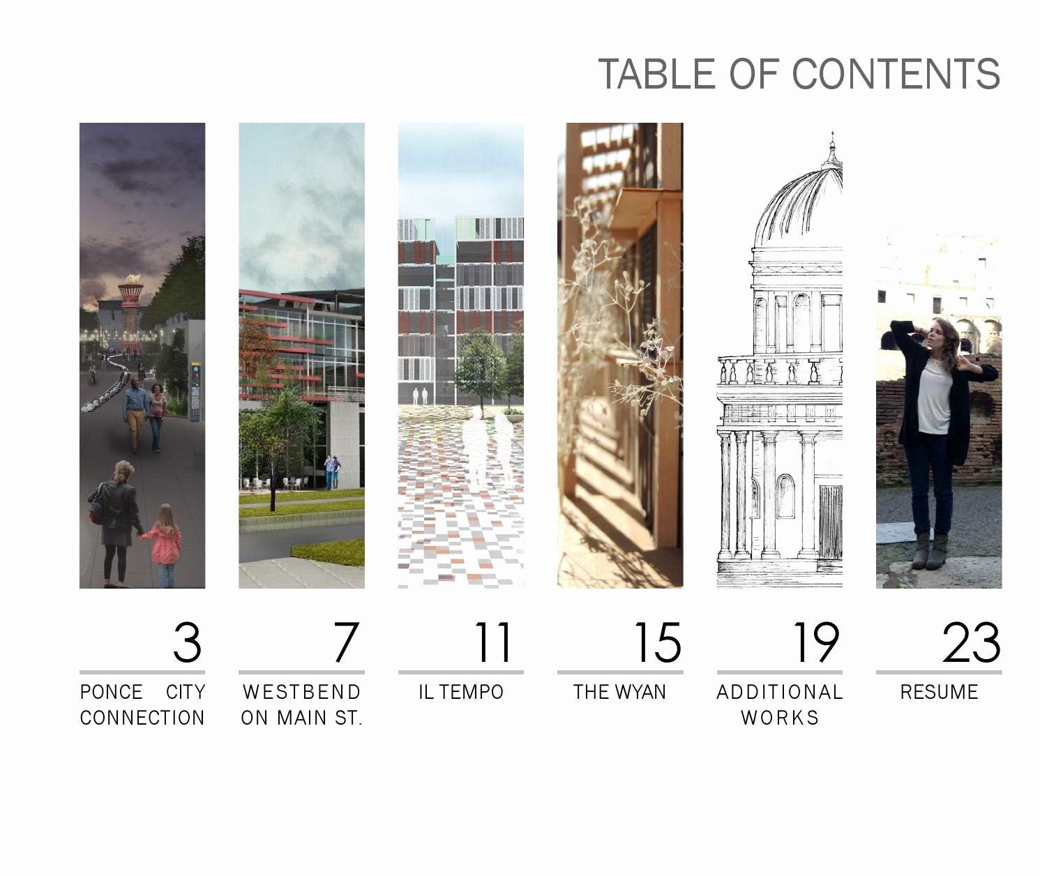 Portfolio Table Of Contents Template Lovely Portfolio Graphic Design