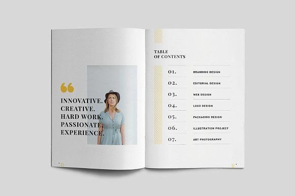 Portfolio Table Of Contents Template Luxury Graphic Design Portfolio Table Of Contents Brochure