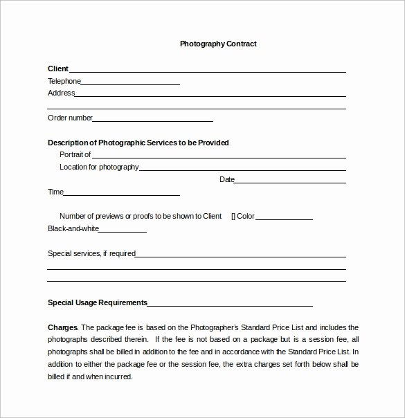 Portrait Photography Contract Template Awesome 13 Graphy Contract Templates – Pdf Word Pages
