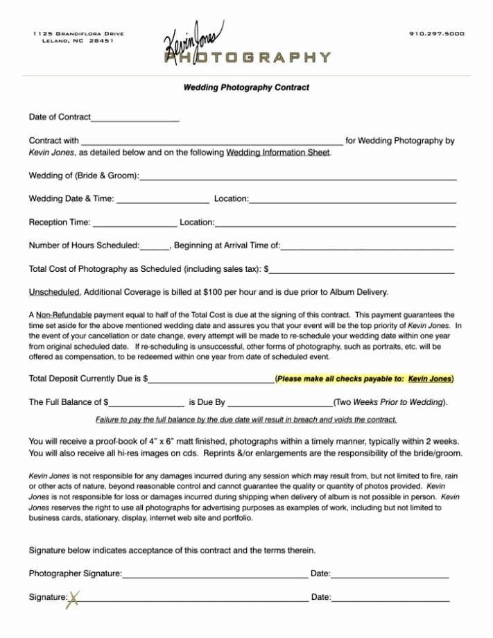 Portrait Photography Contract Template Awesome Portrait Graphy Contract Template Sampletemplatess