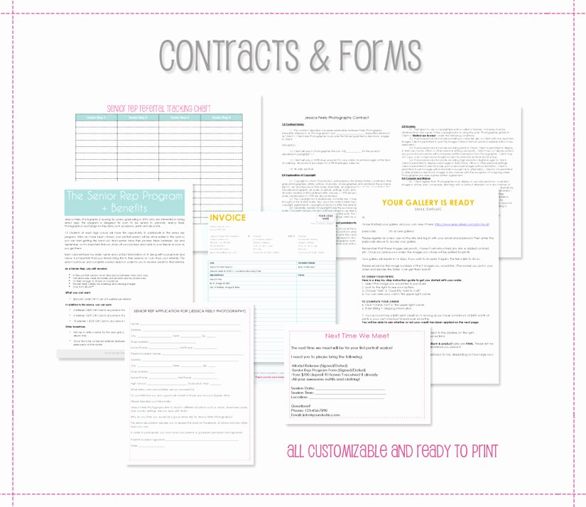 Portrait Photography Contract Template Awesome the Savvy Grapher Senior Portrait Marketing by