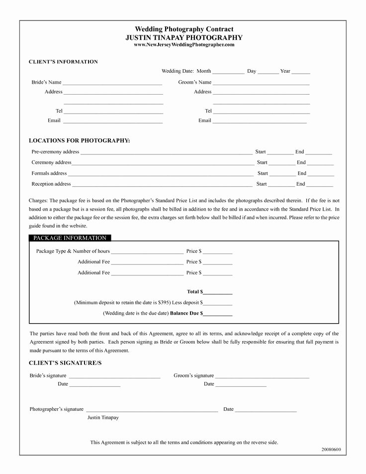 Portrait Photography Contract Template Elegant 17 Best Images About Wedding Photography Contract Template
