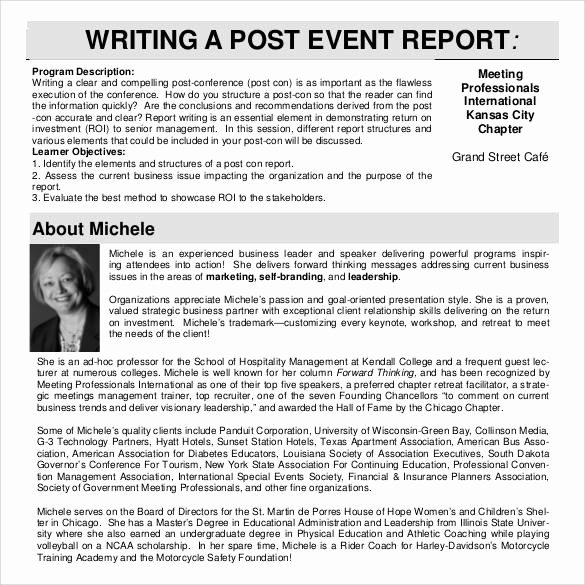 Post event Report Template Awesome 30 Sample Report Writing format Templates – Pdf