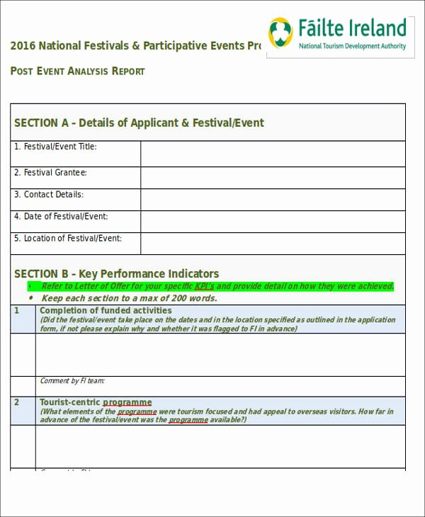 Post event Report Template Inspirational 40 Sample Reports In Doc