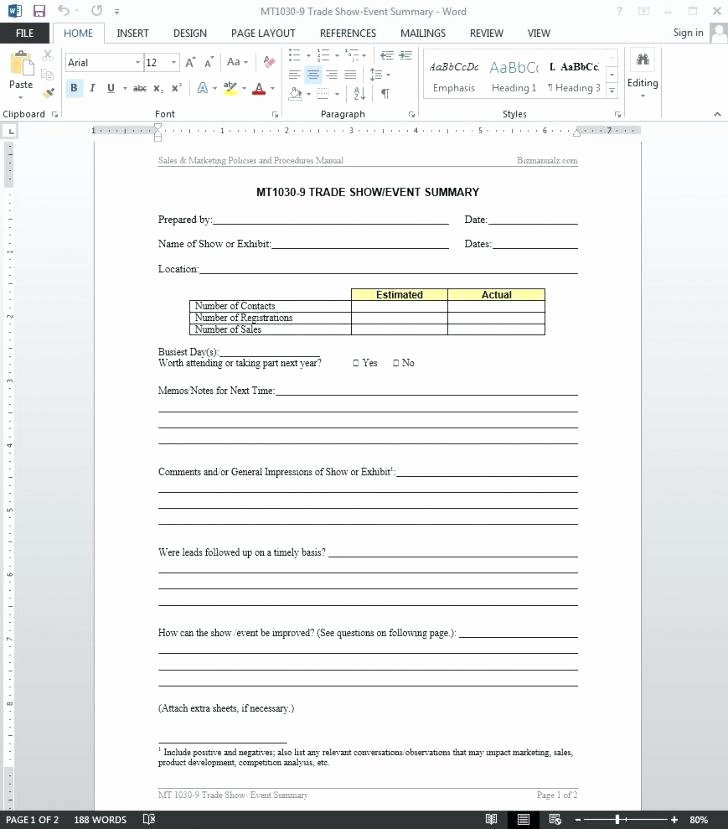 Post event Report Template Inspirational Conference Summary Report Template New Post event Summary