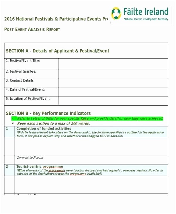 Post event Report Template Inspirational event Analysis Template Cost Significant Dentistry
