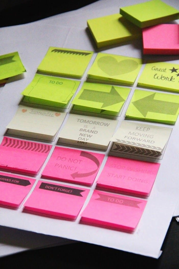 Post It Note Printing Template Elegant Hans Worscht Diy Template for Printing On Post It Notes