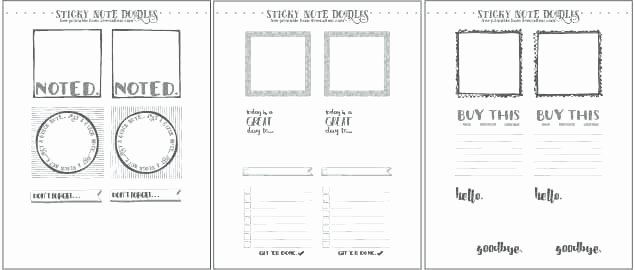 Post It Note Printing Template Elegant Sticky Notes Note Template In Word