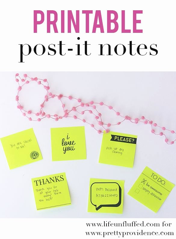 Post It Note Printing Template Inspirational 27 Best Printable Post It Notes Images On Pinterest