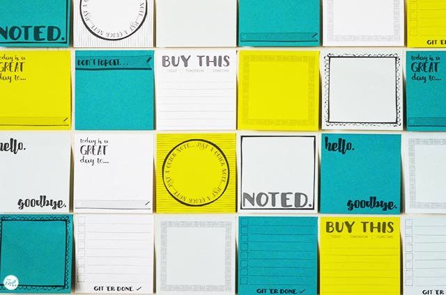 Post It Print Template Awesome Free Template for Diy Printable Sticky Notes