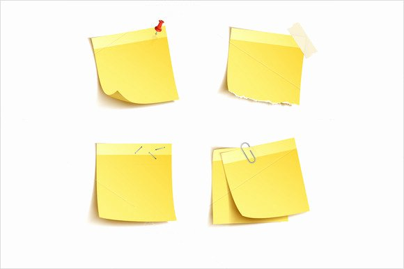 Post It Print Template Beautiful 10 Sample Sticky Notes