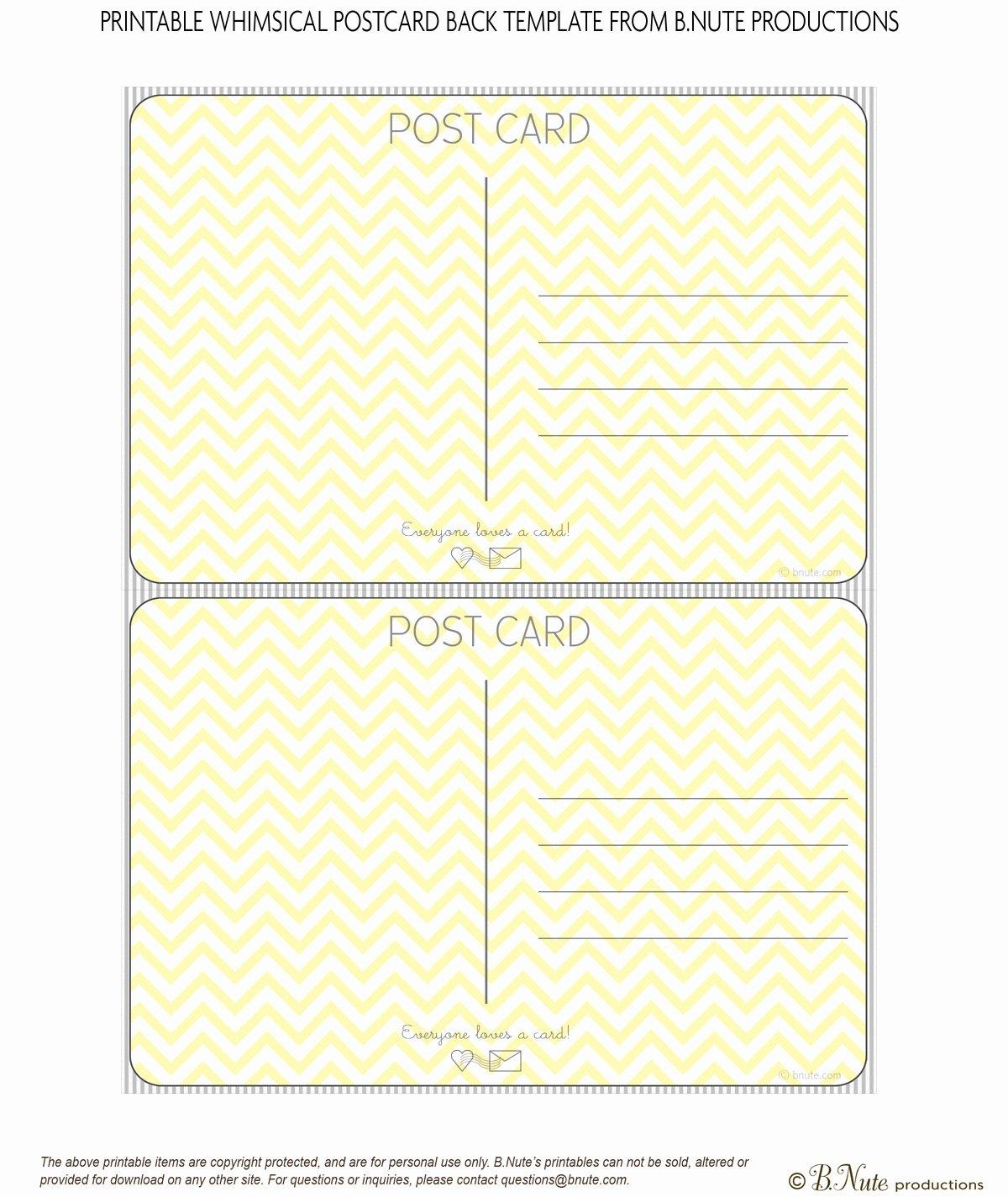 Post It Print Template Elegant 10 Best Of Printable Postcard Templates Free
