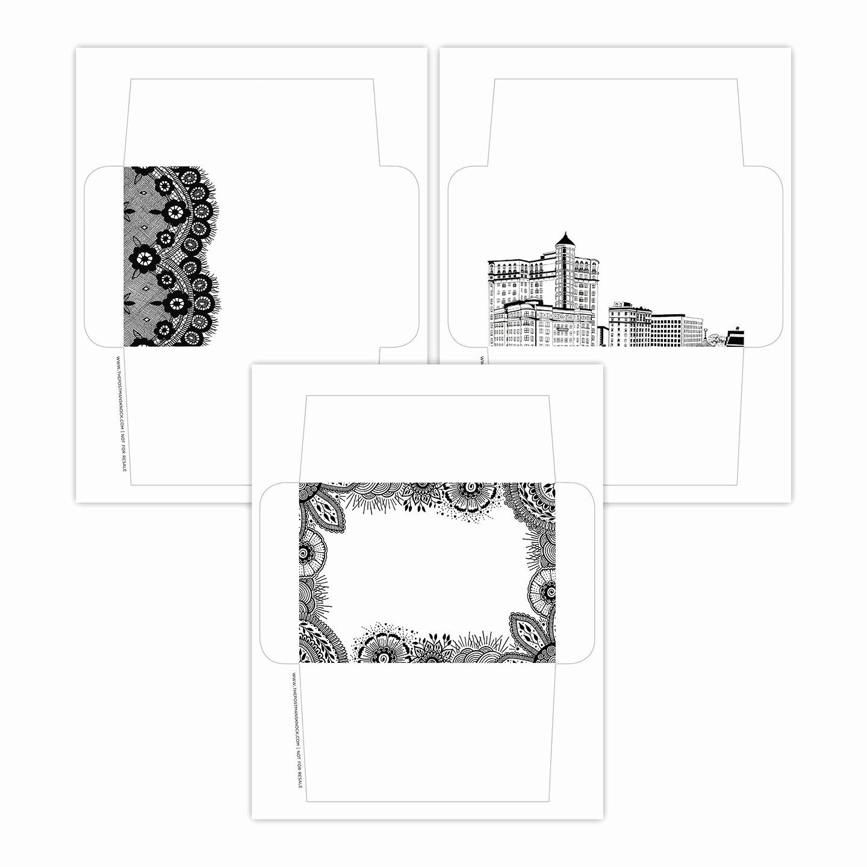 Post It Print Template Elegant Pen & Ink Printable Envelope Templates