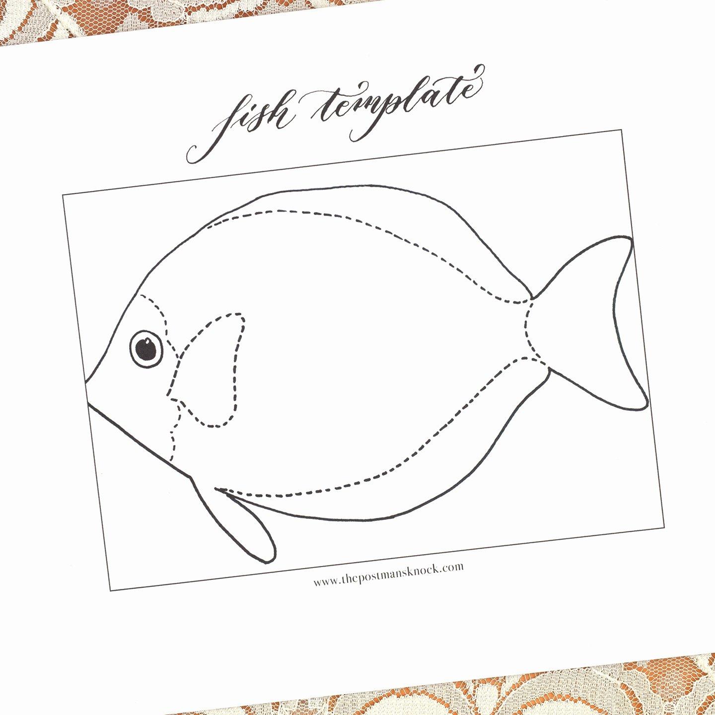 Post It Print Template Elegant Printable Fish Template
