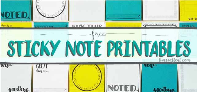 Post It Print Template Lovely Free Template for Diy Printable Sticky Notes
