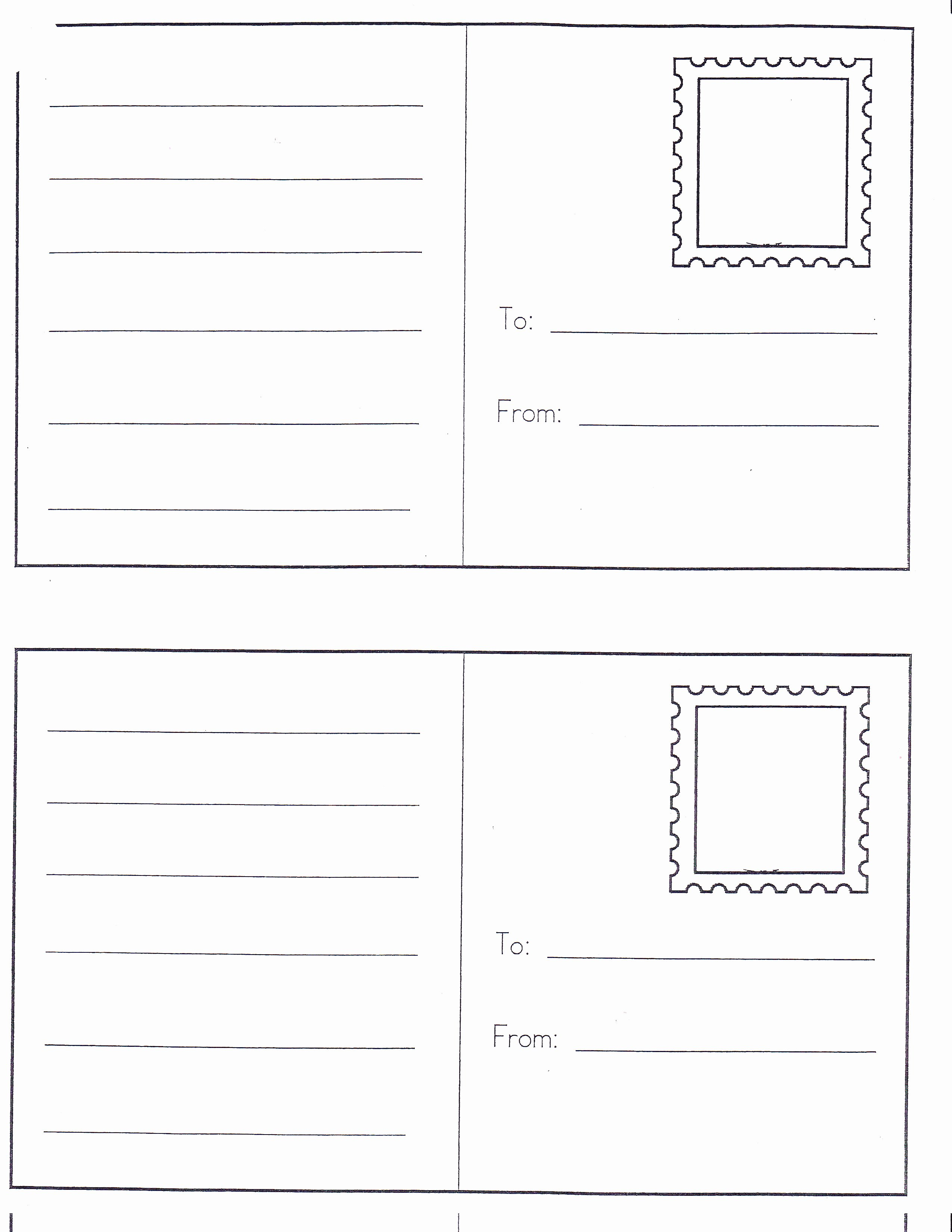 Post It Print Template Luxury Best Ideas Postcard Template Free Unique Free Printable