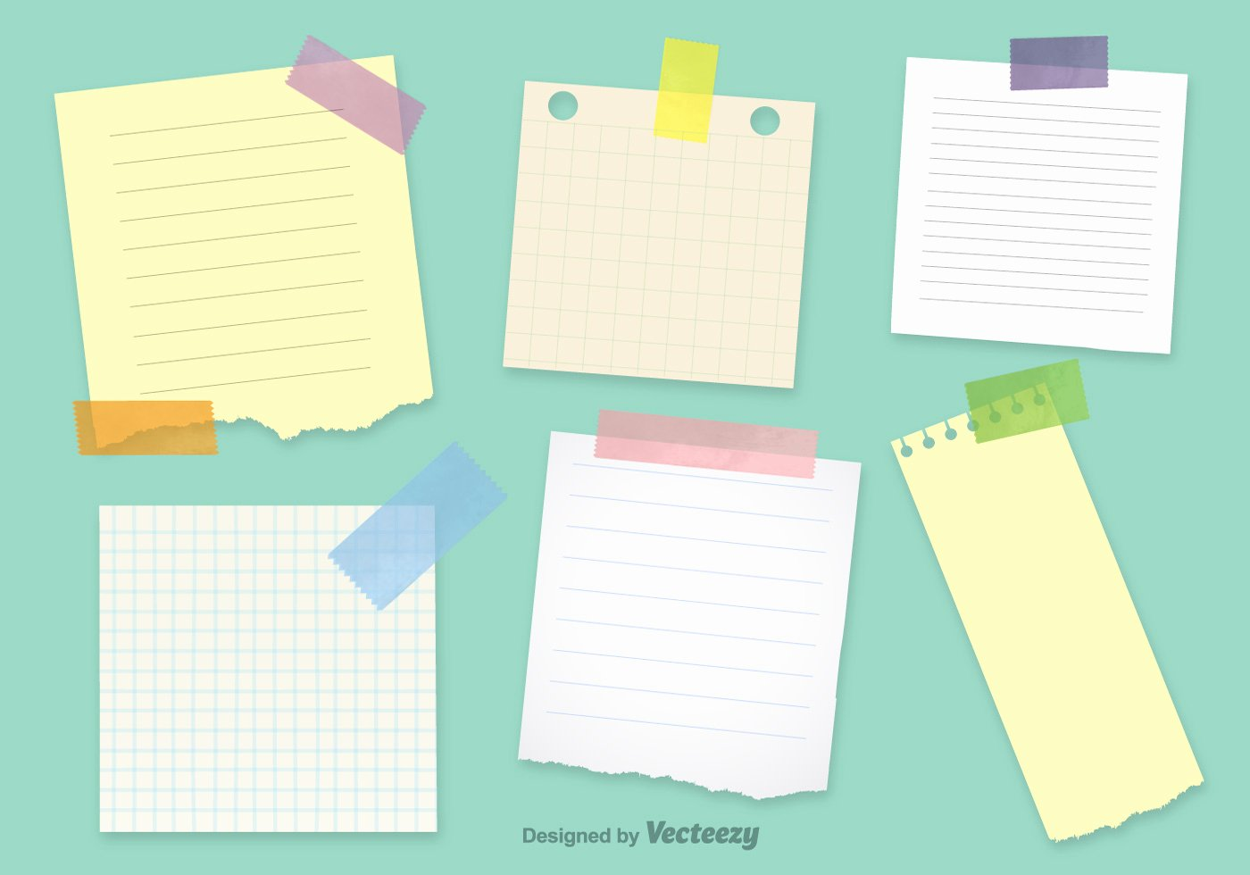 Post It Print Template New Fice Notepaper Vector Templates Download Free Vector