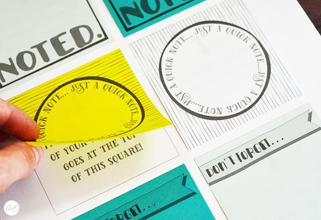 Post It Print Template New Free Template for Diy Printable Sticky Notes