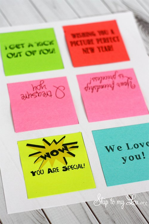 Post It Print Template Unique How to Print On Post It Notes Clever Saying Gift