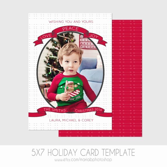 Postcard Template Front and Back Beautiful 5x7 Christmas Card Template Front and Back Modern
